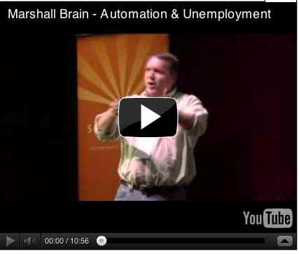 Image to go with video of: Marshall Brain - Automation & Unemployment