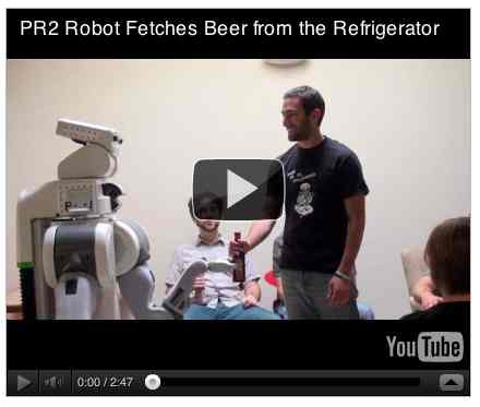 Image to go with video of: PR2 Robot Fetches Beer from the Refrigerator