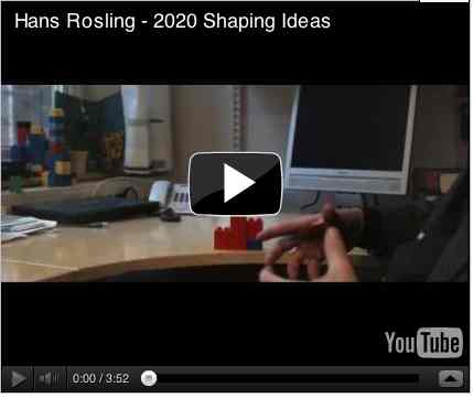 Image to go with video of: Hans Rosling - 2020 Shaping Ideas