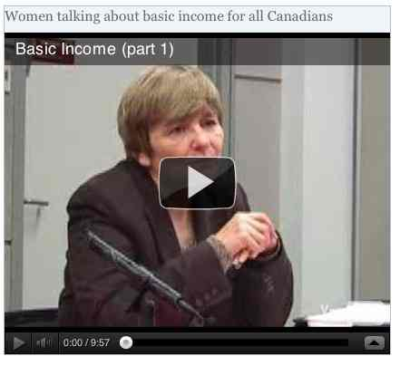 Image to go with video of: Women talking about basic income for all Canadians
