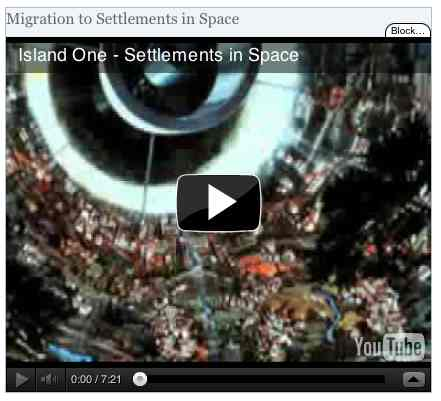 Image to go with video of: Migration to Settlements in Space