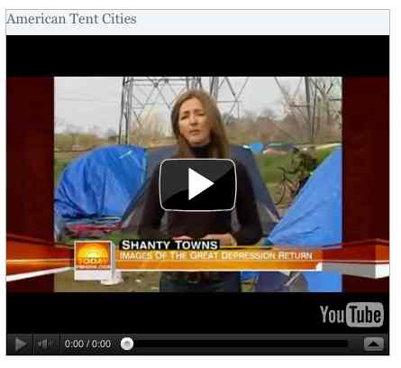 Image to go with video of: American Tent Cities