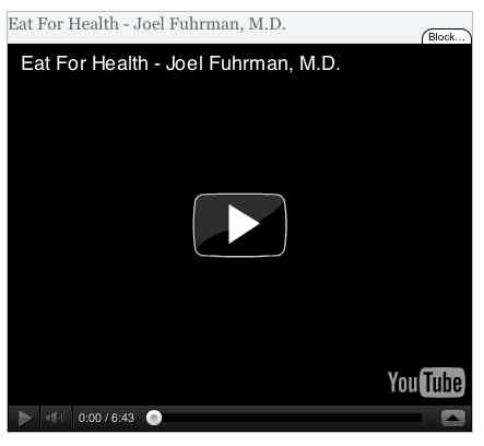Image to go with video of: Eat For Health - Joel Fuhrman, M.D.