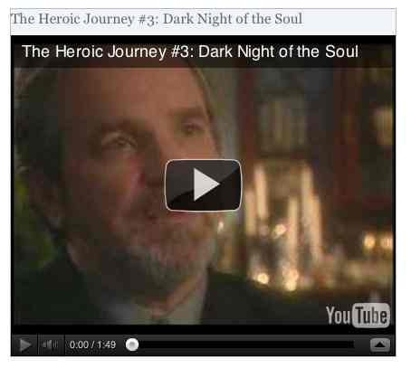 Image to go with video of: The Heroic Journey #353: Dark Night of the Soul