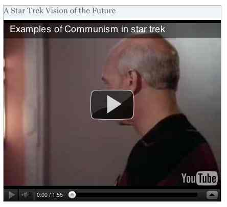 Image to go with video of: A Star Trek Vision of the Future